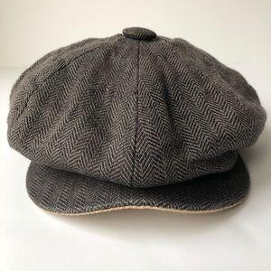 Goorin Bros Tweed Newsboy Cap Gray size Medium